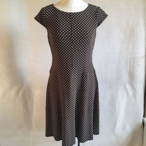 Vintage Anne Klein Polka Dot Midi Lady Dress